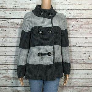 Banana Republic Gray Heavy Cardigan Sweater Jacket